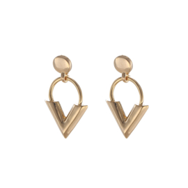 Studs - V-Earring - gold plated