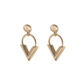 Ear studs - V-Earring - silver/gold plated