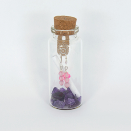 Jewelry in a Bottle - Earrings Rose Quartz - silver plated