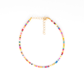 Mini Beads Anklet - multicolor