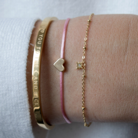 Armband - Heart - gold plated