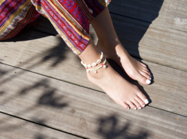 Beads Anklet - Pearl with Shells