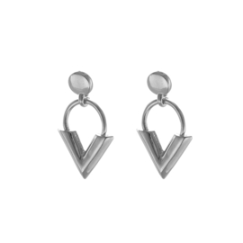 Studs - V-Earring - silver plated