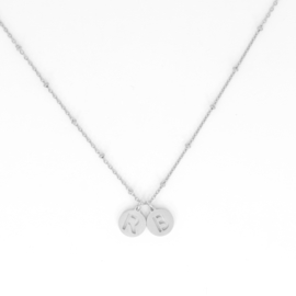 Necklace Long - Initial - RVS silver
