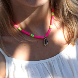 Surf Necklace - Shell silver - pink