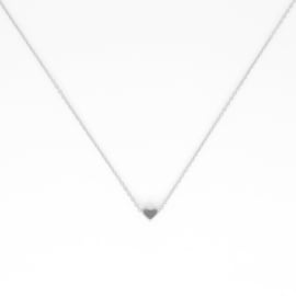 Korte ketting - Heart - silver plated