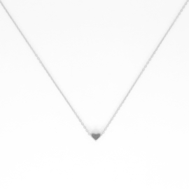 Short Necklace - Heart - silver plated