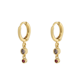 Earrings small - Sparkle - silver/gold plated
