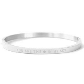 Quote Bangle - You are my star in the sky - RVS silver
