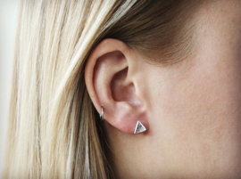 Ear studs - Triangle - silver