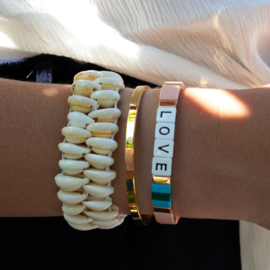 Colourful LOVE Bracelet - Peach