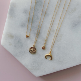 Short Necklace - Coin - silver/gold plated