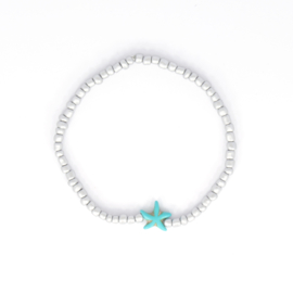 Beads Anklet - Silver with Star