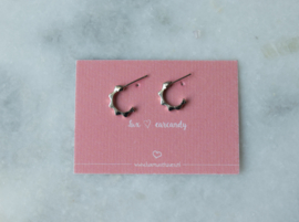 Ear studs - Ring punk - silver plated