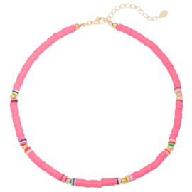 Summer Surf Necklace - Beads - Pink