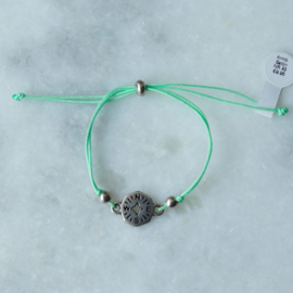 NESW Bracelet - Green - Silver plated