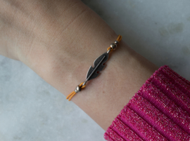 Bracelet Elastic geel - Feather