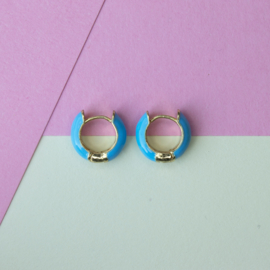 EARRINGS   BLUE   GOLD PLATED