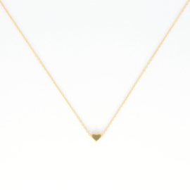 Korte ketting - Heart - gold plated