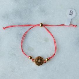 NESW Bracelet - Coral - Gold plated