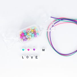 DIY - Set 1 - Letter Armbandjes - Multicolor