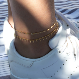 RVS Anklet - mini Coin - gold