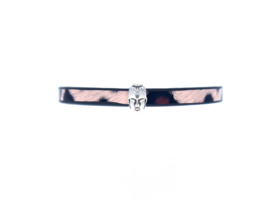 Leopard Leather Bracelet - Buddha charm
