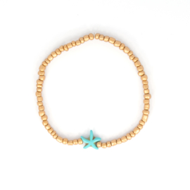Beads Anklet - Gold with Star