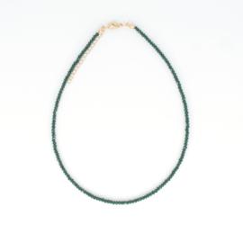 SET - Crystal Necklace & Bracelet - Green