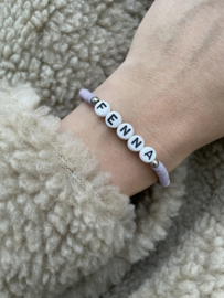 Surf Letter Bracelet - CUSTOMIZED - silver