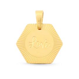Necklace - Love - RVS silver/ gold