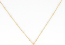 Necklace - Pearl - RVS silver/gold