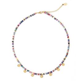 Summer Surf Necklace - Multicolor RVS Coins