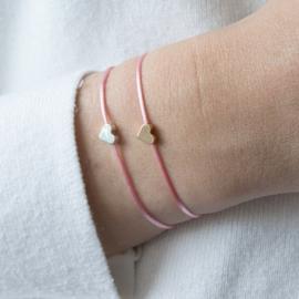 Heart Bracelet - silver plated