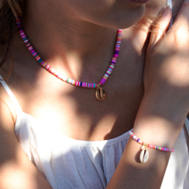 Surf Necklace + Bracelet - Shell - multicolor