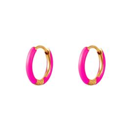 EARRINGS | NEON PINK | RVS GOLD