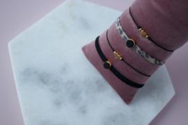 Bracelet set - Black - silver/ gold