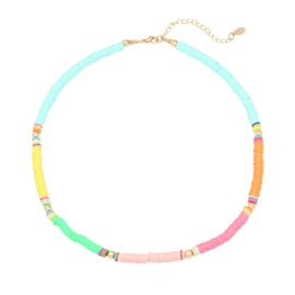Summer Necklace - Rubber Beads - Multicolor