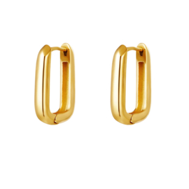 EARRINGS   SQUARE   RVS GOLD