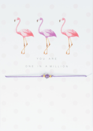 Wish Bracelet - Flamingo - You are one in a million