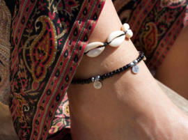 Shell Anklet - black