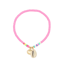 Surf Anklet - Shell - pink