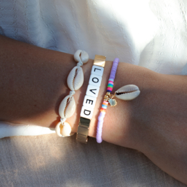 Surf Bracelet - Shell - purple
