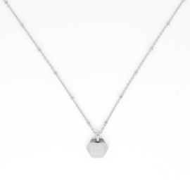 Necklace - Love - RVS silver/gold