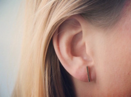 Ear studs - Bar - silver/gold/rosé plated