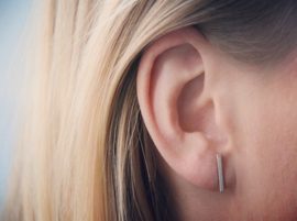 Ear studs - Bar - silver/gold plated