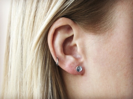 Ear studs - Round - rosé