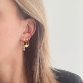 Ear Cuff - Black - gold plated