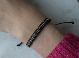 Beads Bracelet - Black/gold