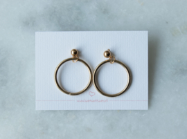 Ear studs - Ring - gold plated